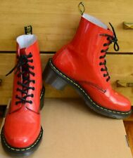 Dr Martens Clemency, Womens Rouge Red Heels Patent Shoes, Size UK 8, EU 42