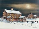 John Rossini Wolf Moon Farm Cow Moon Art Print 16 x 12