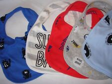 NEW Rosie Pope Baby 5 Pack Bibs Super Baby Spiders Halloween Lightning Blue Red