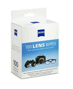 ZEISS Lens 100 Cleaning Wipes Eyeglass, Lenses & High Quality Optics Brand New
