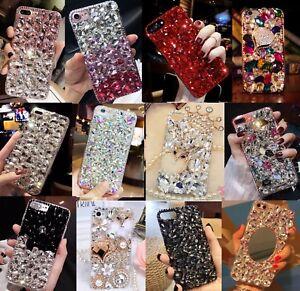 Girls Luxury Bling Diamond Crystal Rhinestone Gems Case Cover for LG Stylo 6 5 4