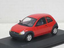 Ford Ka in rot, Minichamps, ohne OVP + Ford-Vitrine, 1:43