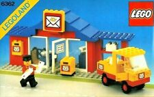 Lego Town, 6362, Post Office,Original Instructions, Box Sleeve, Vintage 1982 Set