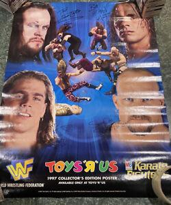 "WWF - RARE Original ""1997"" TOYS R US Poster / Austin,Undertaker,  Exc. new cond."