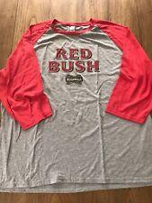 Red Bush Bushmills Irish Whiskey Long Sleeve Gray & Red Tee Shirt Size XL