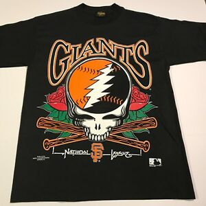 NOS RARE 1994 Grateful Dead SF Giants MLB TShirt Large Rock/Sports Memorabilia