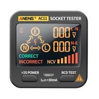 Smart Socket Tester Frequency Voltage Test Socket Detector w/Screen Display Tool