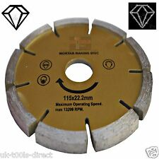 "Diamond Mortar Masonry Joint Raking Disc 115x22mm 4 1/2""Angle Grinder Pointing"