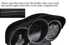 GREY STITCH FITS MAZDA RX8 03-12 SPEEDO GAUGE HOOD PU SUEDE SKIN COVER ONLY