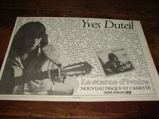 YVES DUTEIL - PUBLICITE LA STATUE D'IVOIRE !!!!!!!!!!!!