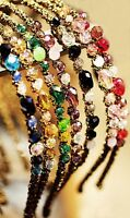 1pc Women Girl Lady Colorful Delicate Crystal Rhinestone Look Headband Hair Band