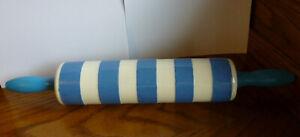 Vintage T.G. Green Cornishware Blue & White Rolling Pin