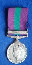 Original General Service Medal with Palestine 1945-48 Clasp - Spr G F Styles