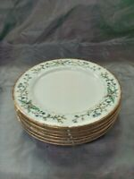 "Farberware WELLESLEY Set of 6-8 1/8"" Salad Luncheon Plates 486 Fine China EC"