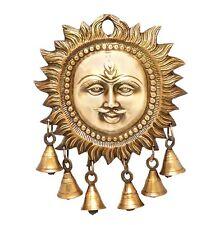 "Vintage Brass Wall Hanging Art Sun Religious Diwali Antique Home Office Decor 7"""