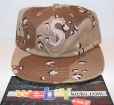 Supreme NYC Desert Camo Tonal S Logo 6 Panel Strapback Cap Hat FW17H29 New