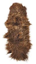 éco Peau de mouton Tapis fourrure Descente lit env. 200 x 75 cm marron nature