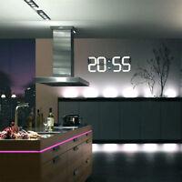 LED Digital Wanduhr Digitaluhr mit Datum Temperatur Kalender Bar Kiosk Cafe Weiß