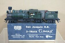 PFM UNITED SCALE MODELS BRASS 3 TRUCK SHAY COOS BAY LUMBER LOCO pq