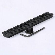 "5.5"" 140mm Long Picatinny Weaver 20mm Rail Rifle Gun Scope Mount Base 13 Slots"