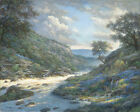Larry Dyke Shadows on the River Signed Open Edition Giclee on Canvas