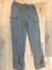 Ralph Lauren Girls' Pants Elastic Cuffs, Olive, Size 10