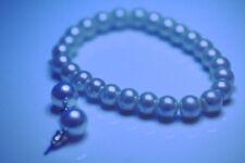 Vintage Pearl Elastic Band And Pearl Earrings Set Plastic