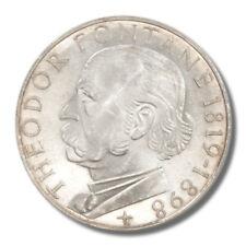 Germany 150th Anniversary Birth of Poet Theodor Fontane 5 Mark 1969 Proof Silver