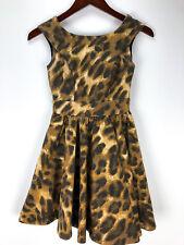 XOXO Women's Leopard Party Dress Size 3/4 Short Sexy Sleeveless Pockets