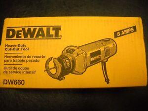 DeWalt DW660 5.0 Amp 30,000 RPM Drywall Cut-Out Tool w/ Tool-Free Bit Change New