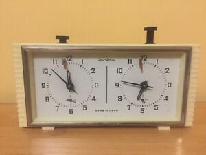 Jantar Vintage 1970 USSR Soviet Tournament white Chess Clock SERVICED