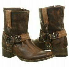 Brand New Bed Stu Womens ROMA Brown Distressed Leather Boots Western Size 8
