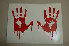 zombie sticker Laptop window Bloody Hand Pair viyl Decal