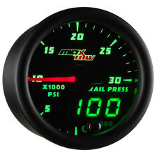 MaxTow 52mm Black & Green 30,000 PSI Fuel Rail Pressure Gauge - MT-DV19
