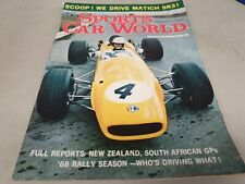 Mar 1968 SPORTS CAR WORLD Mag FIAT 124 COUPE