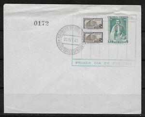 L3000 COLOMBIA FDC PRIMER DIA DE SERVICIO 1945