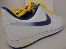 Nike Air Force 1, White / Court Purple / Tour Yellow, 488298 143, Size 14