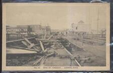 Postcard LORAIN Ohio/OH  Erie Street Viaduct Tornado Disaster view 1920's
