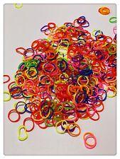 300pcs Colourful Mini Rubber Hair Ties Bands Elastics Loom Band Ponytail Holder