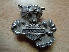 Vintage Harley Davidson Motorcycle Panther Pin Badge Classic HD Biker Shirt Hat