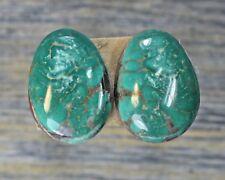 Turquoise cabochon Kingman  mine cab Earring set  Unique  ,C-147
