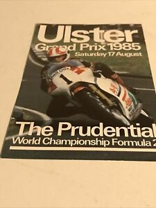 ULSTER GRAND PRIX 1985 Advertising Card-Motorbikes/Motorcycle Racing