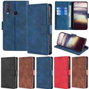 Crocodile Wallet Leather Flip Case Cover For Vivo Y11s Y12S Y19 Y11 X50 Y73S X60