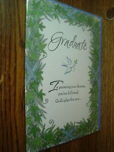 Religious: Graduate Gods Plan for You Graduation greeting Card * G47