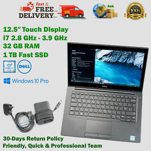 DELL Latitude 12.5 Inch Touch Display 32GB RAM 1TB SSD i7 2.8GHz – 3.9GHz Laptop
