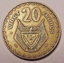 20 Francs Rwanda 1977 Paris Mint KM3