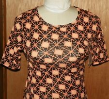 LuLaRoe Julia Black and Orange Abstract Dress Halloween Size Small New Tags