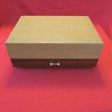 Vintage Wood Silverware Flatware 2 drawer Chest Anti-tarnish Lining ww175