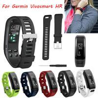 Replacement Soft Silicone Bracelet Strap WristBand for Garmin Vivosmart HR UK