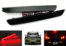 2x Black Smoked Lens LED Bumper Reflector Tail Brake Stop Light For 04-09 Mazda3